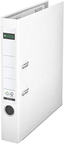 Leitz 10155001 Qualitäts-Ordner (Plastik-Cover, A4, 5,2 cm Rückenbreite) weiß