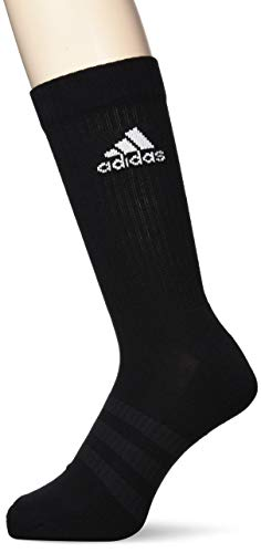 adidas 3 Paar Cushion Crew Socken, schwarz (Black/Black/White), L