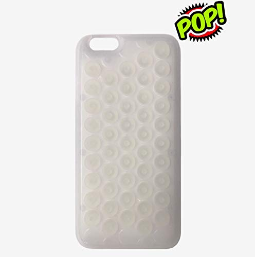 iPhone 6s case HHYCT Funny Popping Decompression Bubble Wrap Back Soft Silicone Case Cover for iPhone 6/6S 4.7 Inch (White)