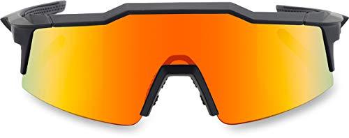 100% SpeedCraft Sonnenbrille, Unisex, Erwachsene, Schwarz
