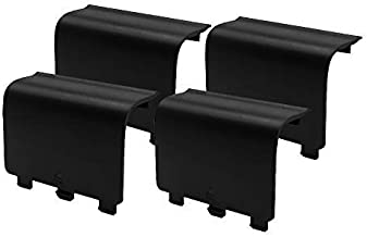 KELIFANG Replacement Battery Cover DoorCompatible with Xbox One/Xbox One S Controller,Battery Back Shell Repair PartCompatible with Xbox Wireless Controller [4 Pack, Black]