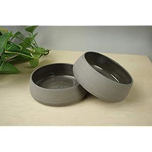 Zwei Handgemachte hundenapf keramik – 600 ml, 2 er Set Keramiknapf für Hunde – Futternapf und Wassernapf für Hunde