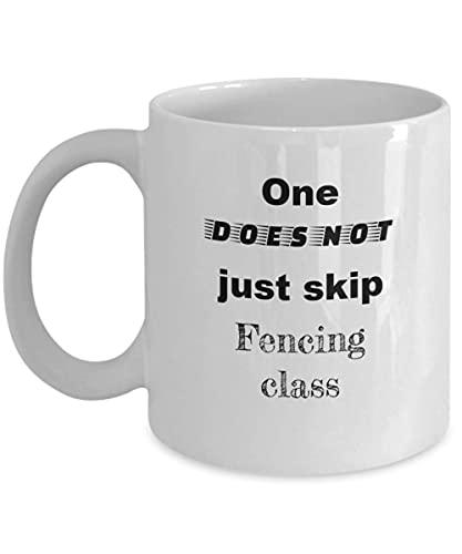 N\A Esgrima - Uno no Solo se Salta la Clase - Maestros de Espada de Equipo - Taza Divertida de café o Taza de té para esgrimistas