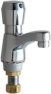 Chicago Faucets 333-665PSHABCP Deck Mount Metering Lavatory Faucet, Chrome