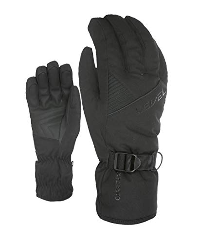 Level Guantes de Gore-Tex para Hombre, Color Negro, 9