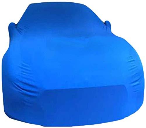 ZGYQGOO Copriauto in Tessuto Elastico Antipioggia, Antivento, Antipolvere, Resistente ai Raggi UV, Non infiammabile, Adatto per Modelli Audi (Colore: Blu, Dimensioni: Audi Q3)