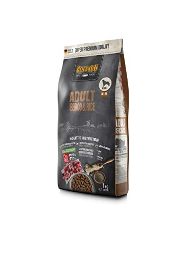 Belcando Adult Iberico & Rice [1 kg] Hundefutter | Trockenfutter für Hunde | Alleinfuttermittel für ausgewachsene Hunde Aller Rassen ab 1 Jahr