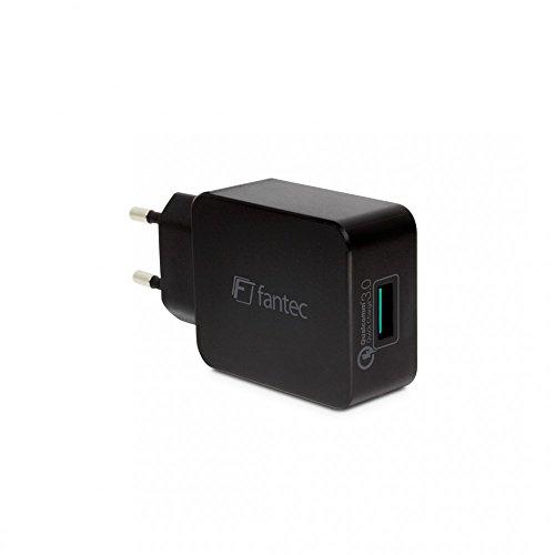 FANTEC QC3-A11 Quick Charge 3.0 Ladegerät und 1x USB Anschluss mit 18W schwarz