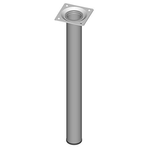 Element System 4gambe in acciaio, base rotonda, per tavolo, mobili, con piastra di ancoraggio, 11100-00037