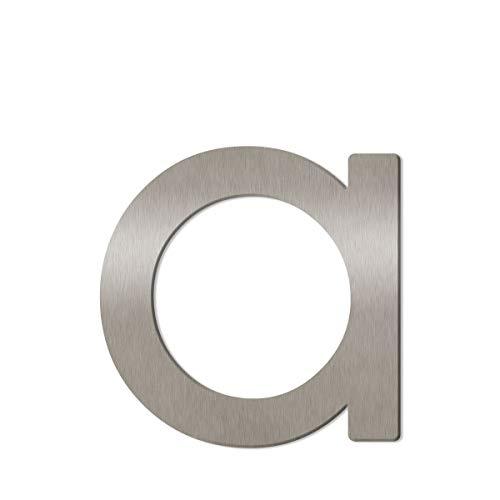 Thorwa® moderne Design Edelstahl Hausnummer Avant Garde Stil, Edelstahl gebürstet/geschliffen, H: 160mm / 16cm (a)