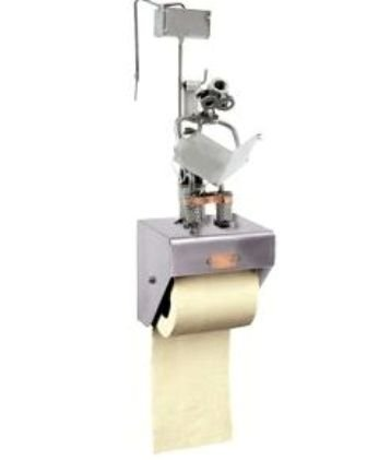 Hinz & Kunst Dévidoir Mural Papier Toilette WC Journal en Acier.