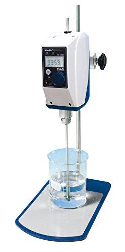 Witeg HS-100D - Mezclador de laboratorio (20 L, 200-3000 rpm, control digital, alta velocidad, incluye agitador PL015, pinza y trípode, pantalla LCD)