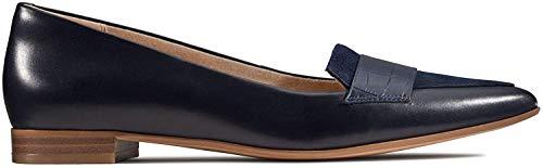 Clarks Damen Laina15 Loafer Slipper, Blau (Navy Croc), 36 EU
