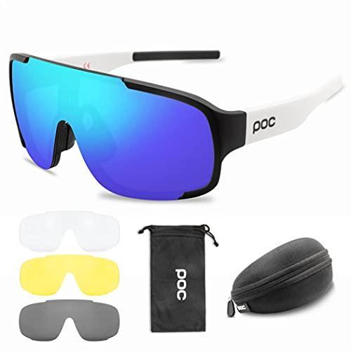 MilkyWay Gafas de ciclismo, gafas de sol deportivas para hombres y mujeres, doble ancho polarizado, gafas deportivas bolsa y funda, gafas resistentes al viento para ciclismo, equitación/escalada (5)