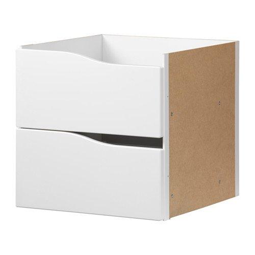 Unbekannt IKEA KALLAX Einsatz mit 2 Schubladen ohne Griff in weiß; (33x33cm)
