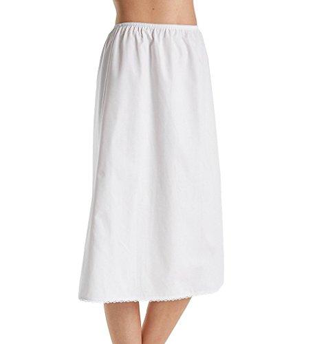 Velrose 100% Cotton Half Slip, White, Medium