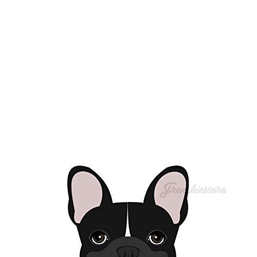 Frenchiestore Frenchie Sticker Black W Line French Bulldog Car Decal
