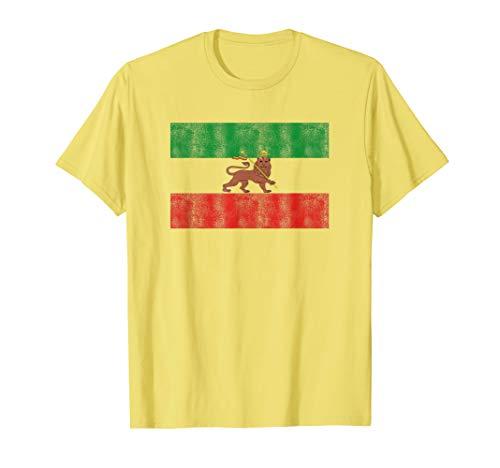 Rasta Rastafari Lion Ethiopia Flag Shirt Men Women Kids Gift T-Shirt