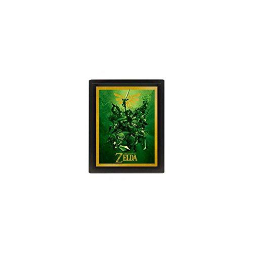 Legend of Zelda The Poster 3D con Cornice, 25,4 x 20,3 cm, Multicolore