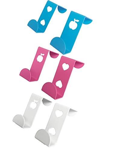 6 piezas de colgadores sobre armarios cajones ganchos de metal para puertas para baño dormitorio cocina gabinete hogar u...