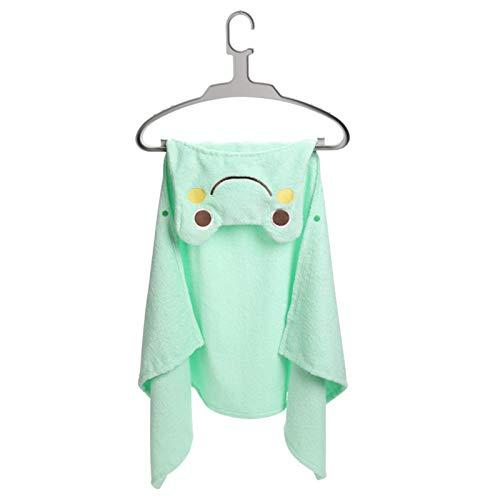 AOIWE Toalla de baño Niños con Capucha Toalla con Capucha después del baño para niños pequeños, algodón Esponjoso Suave Toalla de Toalla de bebé con Cara de Animal con Toallas (Color : Green Frog)