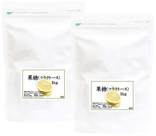 自然健康社 果糖(フルクトース) 1kg×2個 チャック付き袋入り