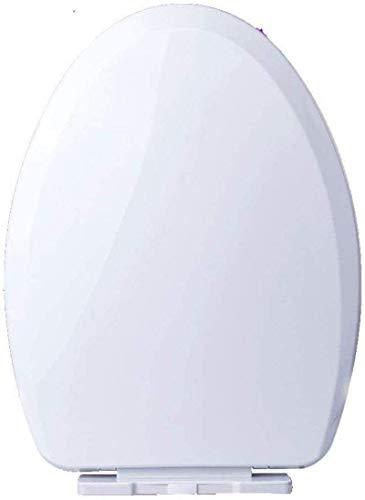 Asiento de Inodoro Universal Big V/U Forma de Gota Silencio Fácil de Instalar Tapa de Inodoro montada Superior for Adulto, blanco-41~49 * 35~36 cm