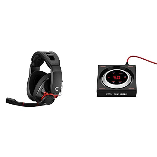 EPOS I Sennheiser GSP 600 – Wired Closed Acoustic Gaming Headset & SENNHEISER GSX 1200 PRO Gaming Audio Amplifier/External Sound Card, with 7.1 Surround Sound, Daisy Chain