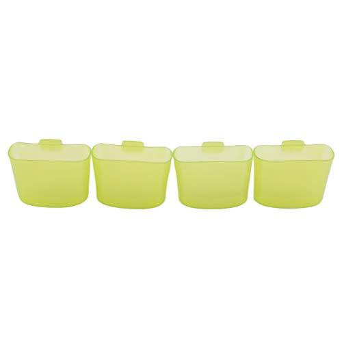 SUNSKYOO 4 Stücke Hängen Teebeutel Kunststoff Kreative Reise Tragbare Nachmittag Dessert Werkzeug Tasse Cookie Ständer Clips, grün