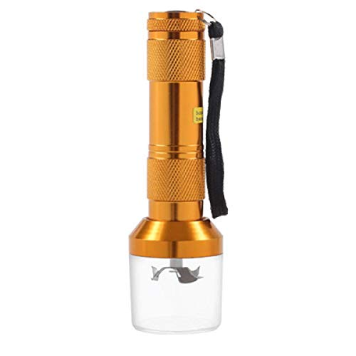 Herbal Grinder, Aluminum Alloy Electric Metal Cigarette Grinder, Creative Manual Flashlight Cigarette Breaker, Smoking Accessories