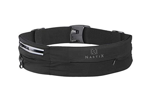 NastiX Laufgürtel für Handy Sportgürtel mit Reißverschluss-Tasche Sport-Hüfttasche mit einstellbarem Verschluss Unisex Gürteltasche für Damen und Herren elastischer Running Belt für alle Aktivitäten