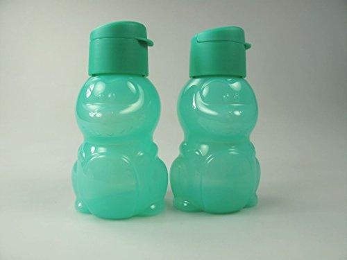 TUPPERWARE To Go Kinder EcoEasy 350ml türkis (2) C172 Dino Trinkflasche Ökoflasche Eco