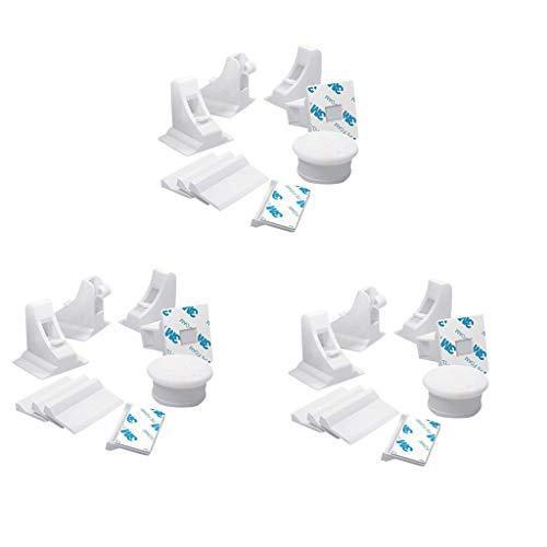 SIRIGOGO - Cierres magnéticos a Prueba de bebés para gabinetes - 12 Unidades a Prueba de niños para armarios de bebé - Cierre magnético Adhesivo para cajones sin Perforaciones