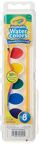 Crayola Washable Watercolors 8 ea (Pack of 24)