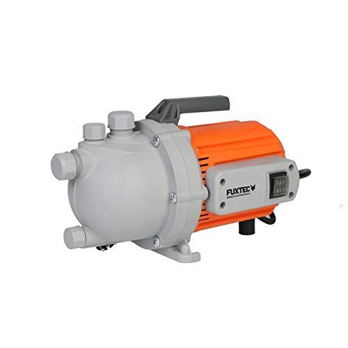 FUXTEC Gartenpumpe FX-GP1600 Wasserpumpe für den Garten - Tauchpumpe 800 Watt, max. 3100 l/h, max. 35 m Förderhöhe, integrierter Schwimmerschalter – auch als Poolpumpe