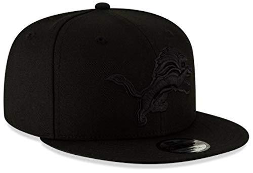 New Era Authentic Detroit Lions Black On Black 9Fifty Snapback, OSFM