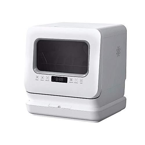 LAMCE DWB-6201 Mini Lave-Vaisselle avec écran LED, 5 programmes + Fonction supplémentaire, Lave-Vaisselle de Petite capacité, Silencieux, économe en énergie, désinfection et séchage automatiqu