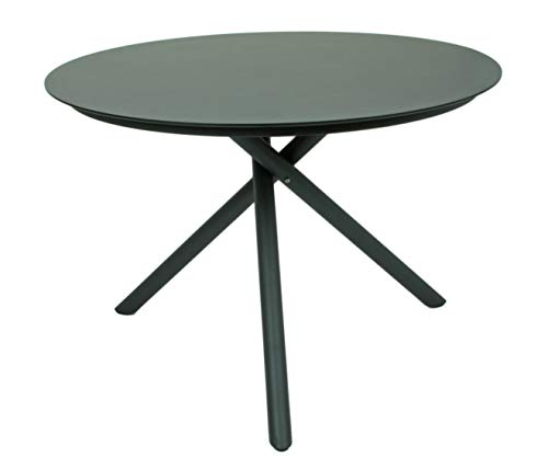 Garden Pleasure Gartentisch Tisch Kendra, Edelstahl, 201, Pulv, Hpl, Dunkelgrau