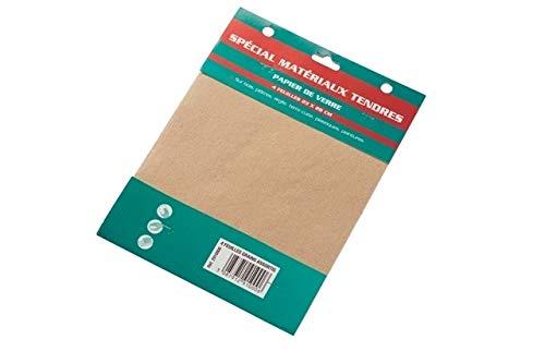 SAVY Papier de verre 4 feuilles grain moyen