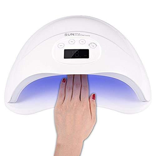 LED UV Nageltrockner intelligenter Lampenfunktion Gelnägel 48W Nagellicht UV Trockner mit Smart...