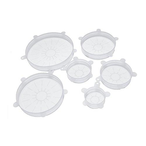 6 pcs universel en silicone stretch Bouteille Bol Pot Coque de tailles différentes