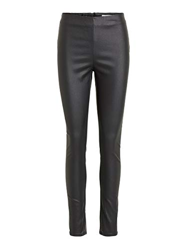 Vila Female Leggings Stretch beschichtete MBlack