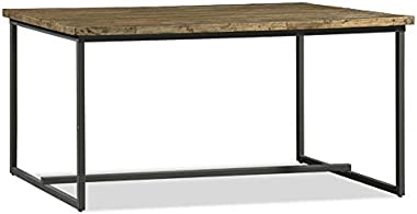 Soho Timber Industrial Indoor Dining Table, Recycled Timber - Dining Tables - Bay Gallery Furniture