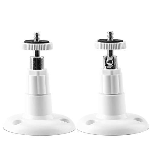 (2 Stück) OOTSR Sicherheitskamera Wandhalterung für Innen/Auß enmontage, verstellbare Halterung Kamera Deckenhalterung für Arlo, Arlo Pro und andere kompatible Modelle (Weiß)