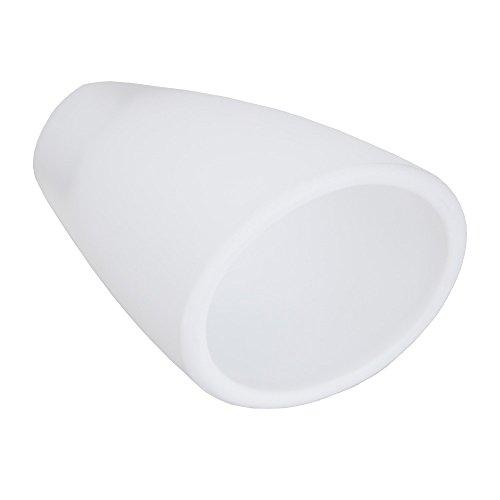 LHG Lampenglas Ersatzglas, Opalglas Weiß Kelchform, 6,40 x 4,50 cm LxB, Tulpen Glasschirm Leuchten-Glas
