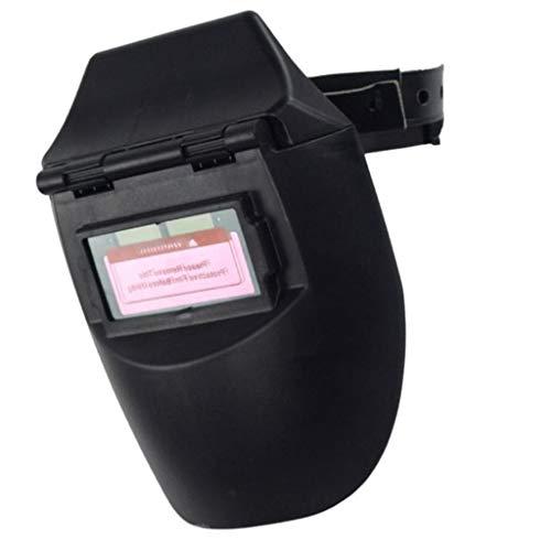 Almencla Careta Soldar Automatica Fotoeléctrica Solar de Medio Casco/Protector Facial de Seguridad de Soldadura - Negro ✅