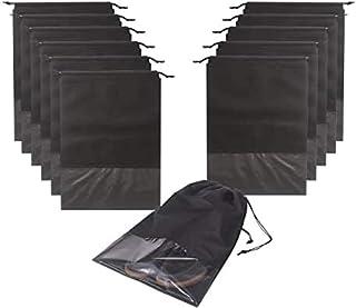 Paquete de 12 bolsas de zapatos portátiles para viajes Bolsa de zapatos grandes Organizador de almacenamiento Ventana tran...