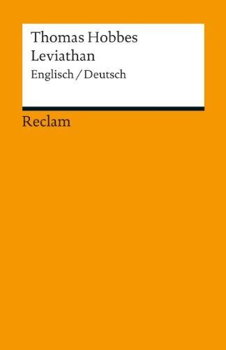 Leviathan: Eine Auswahl. Englisch/Deutsch (Reclams Universal-Bibliothek)