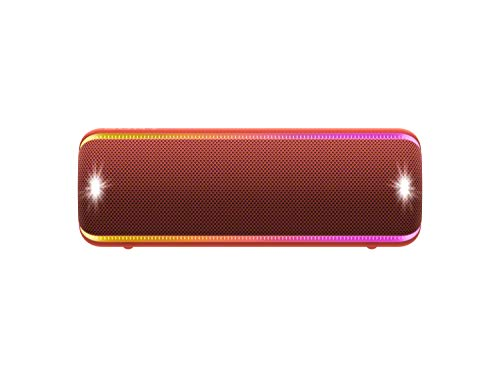 SONY SRS-Xb32 Extra Bass Portable Bluetooth Speaker, Red (SRSXB32/R)