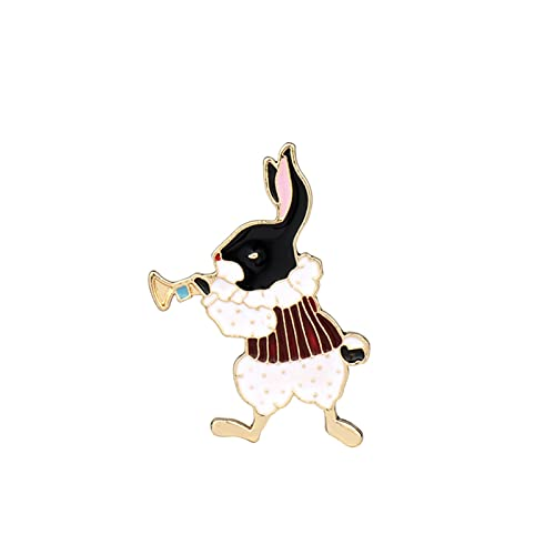 JJSCCMDZ Broche 14 Estilos Joyas Broche Hebilla Piñón Conejo Broches Pines Women Security Pins Men Kids Bags Hat Dibujos Animados Pin Regalos (Metallfarbe : 024)